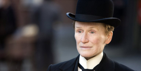 Glenn Close as Albert Nobbs in 'Albert Nobbs.' In addition to playing the titular character, Close was a producer on the film and co-wrote the script with John Banville.
