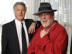 Dustin Hoffman, left, and Nick Nolte head to the track Sunday (HBO, 9 p.m. ET/PT).