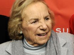 """I'm a train wreck"": Ethel Kennedy at Friday's premiere of her daughter Rory's documentary, 'Ethel.'"