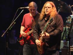 A jam-band battle royal: Guitarists Derek Trucks, left, and Warren Haynes of the Allman Brothers are both up for Grammys for best blues album. Gregg Allman is also a nominee in that category.