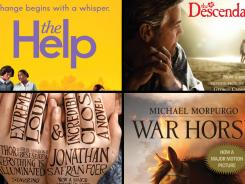 'The Help', 'The Descendants', 'Extremely Loud and Incredibly Close' and 'War Horse' are all best picture nominees based on books.