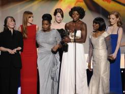 'The Help' had a big night, winning best ensemble, best lead actress (Viola Davis) and supporting actress (Octavia Spencer).