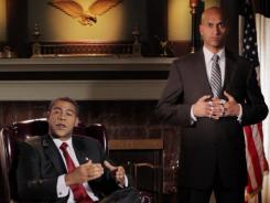 Luther (Key) is an anger translator who detects and unleashes what lurks underneath the cool exterior of the president (Peele).