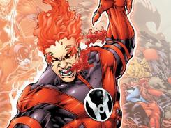 The human Red Lantern named Rankorr makes his appearance felt in the latest issue of 'Red Lanterns.'