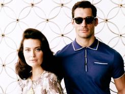That '60s show -- and look: Models show off pieces from Banana Republic's second 'Mad Men' capsule collection, designed in partnership with the show's costume designer, Janie Bryant.
