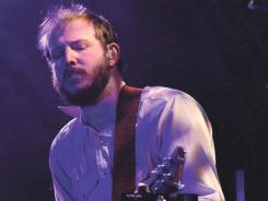 Busy man: Justin Vernon of Bon Iver has worked with Kanye West and Alicia Keys.