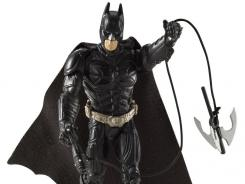 Mattel's new Batman figure from The Dark Knight Rises is swinging into toy fairs all around the world, including Toy Fair in New York City.