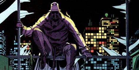 The masked vigilante Rorschach was originally created by Alan Moore and Dave Gibbons in the original 1980s Watchmen series.
