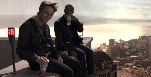 "Dane DeHaan (left) and Michael B. Jordan leap buildings in a single bound, and document the process. ""This is the most self-photographed, self-filmed generation of all time. Everybody has a little video diary,"" says director Josh Trank."