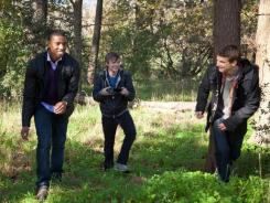 Telekenetic teens Steve (Michael B. Jordan, left), Andrew (Dane DeHaan) and Matt (Alex Russell) document their superpowered high school experience in 'Chronicle.'