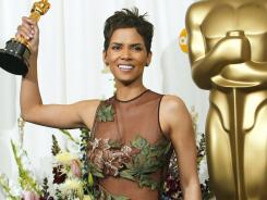 Halle Berry wore one of Oscar night's most iconic dresses (by Elie Saab) when she won in 2002 for 'Monster's Ball.'