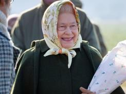 Still going strong:  The queen attends a tree planting at the Sandringham estate Friday.