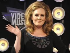 Adele's 'Rolling in the Deep' is a favorite to win song of the year.