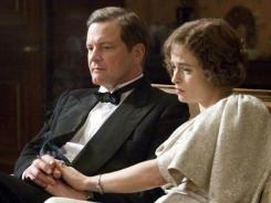 Colin Firth was King George VI, with Helena Bonham Carter as the Queen Mother, in 'The King's Speech,' which beat favorite 'Social Network' for best picture.