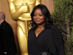 Ogling:  First-time nominee Octavia Spencer took it all in.