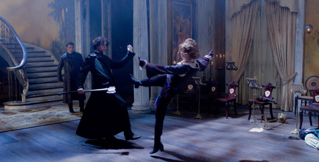 The South (and the undead) rise: Abraham Lincoln (Ben Walker) battles vampire Vadoma (Erin Wasson) in a scene from 'Abraham Lincoln: Vampire Hunter.'
