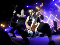 Back-to-back shows: James Hetfield, left, Robert Trujillo and Co. will headline.