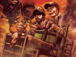 Joe Hill and his dad Stephen King get the variant-cover treatment for the IDW comics series Road Rage.