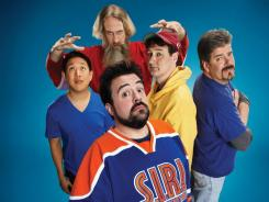 Comic crew: (clockwise from top): Bryan Johnson, Walt Flanagan, Mike Zapcic, Kevin Smith and Ming Chen.