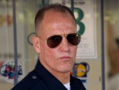 Woody Harrelson offers a commanding performance as casually malevolent Officer Dave Brown in 'Rampart.'