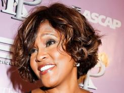 Whitney Houston at a Grammy-related party in Hollywood on Thursday.