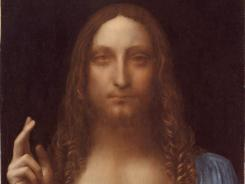 The Leonardo da Vinci collection included 'Salvator Mundi (Christ as Savior of the World),' a painting from circa 1500 that was only recently authenticated as da Vinci's.