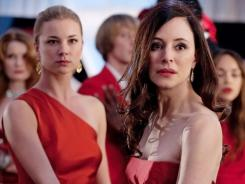 Labor Day surprises: This week's episode, jumps back to Emily (Emily VanCamp, left) and Victoria (Madeleine Stowe) at the engagement party for Emily and Daniel.