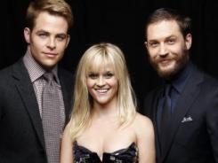 Chris Pine, left, Reese Witherspoon and Tom Hardy tackle love, friendship and espionage in 'This Means War.'