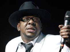 Bobby Brown, former husband of the late Whitney Houston, performs with New Edition Saturday at Mohegan Sun Casino in Uncasville, Conn.