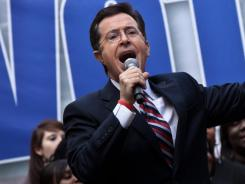 Stephen Colbert's satirical talk show 'The Colbert Report' suspended production last week while Colbert tended to his mother, who is in poor health.