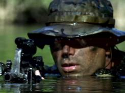 Quiet warriors: Active-duty Navy SEALs perform their own stunts in 'Act of Valor.'