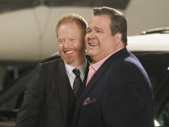 Cameron (Eric Stonestreet, right) is celebrating a leap year birthday on ABC's 'Modern Family.' The pressure is on his partner, Mitchell (Jesse Tyler Ferguson), to do it up right.