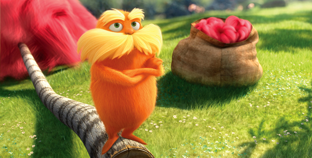 The Lorax (voiced by Danny DeVito) speaks for the trees. Below, the cast of 'Dr. Seuss' The Lorax' speaks about memorable trees in their lives.