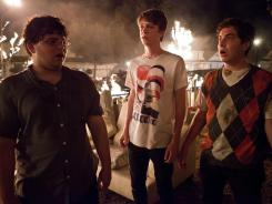 Boys gone wild: Jonathan Daniel Brown, left, Thomas Mann and Oliver Cooper play high-schoolers who try to boost their social status by throwing a big party.