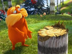 Stumped: The Lorax (Danny DeVito) demands to know who chopped down the Truffula tree in the adaptation of Dr. Seuss' fable.
