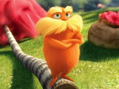 Danny DeVito is the voice of the Lorax in the weekend's top movie.