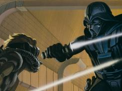 This is Ralph McQuarrie's initial 1975 production painting that helped move production of 'Star Wars' forward. McQuarrie died Saturday. He was 82.