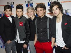 Liam Payne, left, Zayn Malik, Niall Horan, Louis Tomlinson and Harry Styles of One Direction.