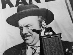Orson Welles as Charles Foster Kane, a character resembling William Randolph Hearst, in 'Citizen Kane.'