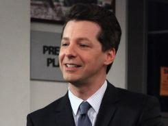 Sean Hayes guest stars on 'Parks and Recreation' as TV host Buddy Wood.