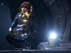 Noomi Rapace is a space explorer in 'Prometheus,' which is set in the same creative universe as Ridley Scott's 'Alien' franchise.