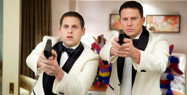 Jonah Hill, left, and Channing Tatum star as a pair of rookie officers sent undercover at a high school in '21 Jump Street.'