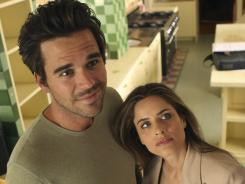 Stop me if you've seen this before: David Walton plays Pete, a womanizer who's doing a remodeling job for lawyer Alex (Amanda Peet). At first, they don't like each other, but guess what happens?