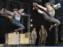 'Newsies' features music by Alan Menken, lyrics by Jack Feldman, book by Harvey Fierstein and lots of dancing newsboys.