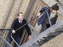 "Martin (Kiefer Sutherland) goes after Jake (David Mazouz), who can predict the future. But the show's real story, Sutherland says, is about ""a father trying  hellip/> to communicate with his son."""