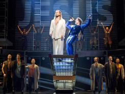 Divine voices: Paul Nolan, left, stars as Jesus and Josh Young is Judas in the new production of 'Jesus Christ Superstar,' which follows the last days of Jesus' life.