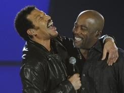 Only want to sing with you:  Darius Rucker says he's always wanted to perform with Richie.