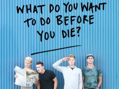 "Wish list:  The authors compiled art from people who answered the question ""what do you want to do before you die?"""
