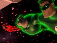 The Red Lantern Razer has made an unlikely team with Kilowog and Hal Jordan on Green Lantern: The Animated Series.