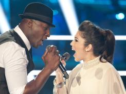 Jermaine Paul and ALyx battle on NBC's 'The Voice.' The show has been losing the battle with ABC's 'Dancing With the Stars' on Monday nights.